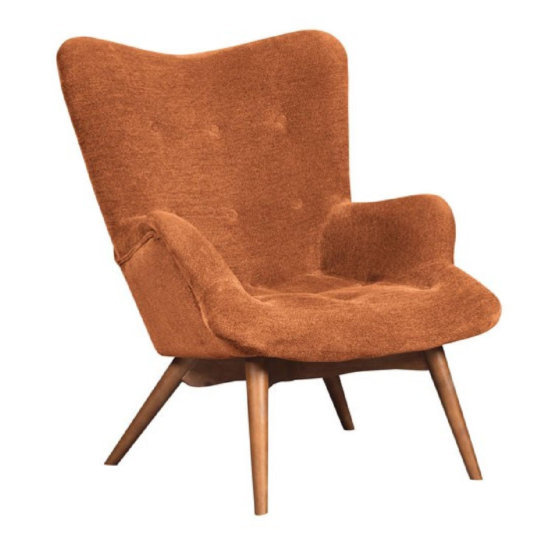 Orange accent chair - Ashley S Pelsor Orange Accent Chair