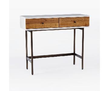 West Elm Reclaimed Wood & Lacquer Console
