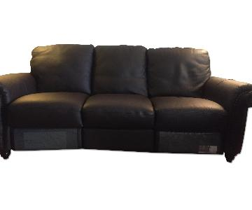 Natuzzi Leather 3 Seater Sofa + 2 Recliner Chairs