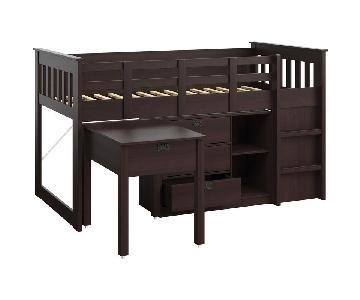 Wayfair Deion Twin Low Loft Bed w/ Storage
