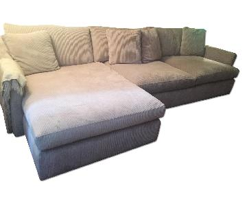Crate & Barrel Lounge Sectional Sofa w/ Chaise