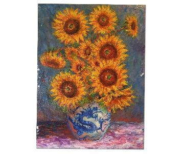 Anthony Coffey - Sunflowers Oil on Canvas