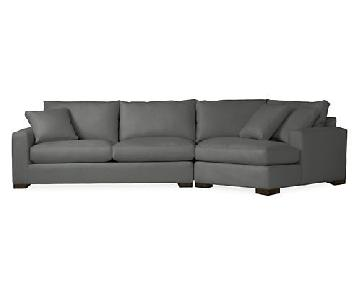 Room & Board Metro Sectional Sofa w/ Right-Arm Angled Chaise