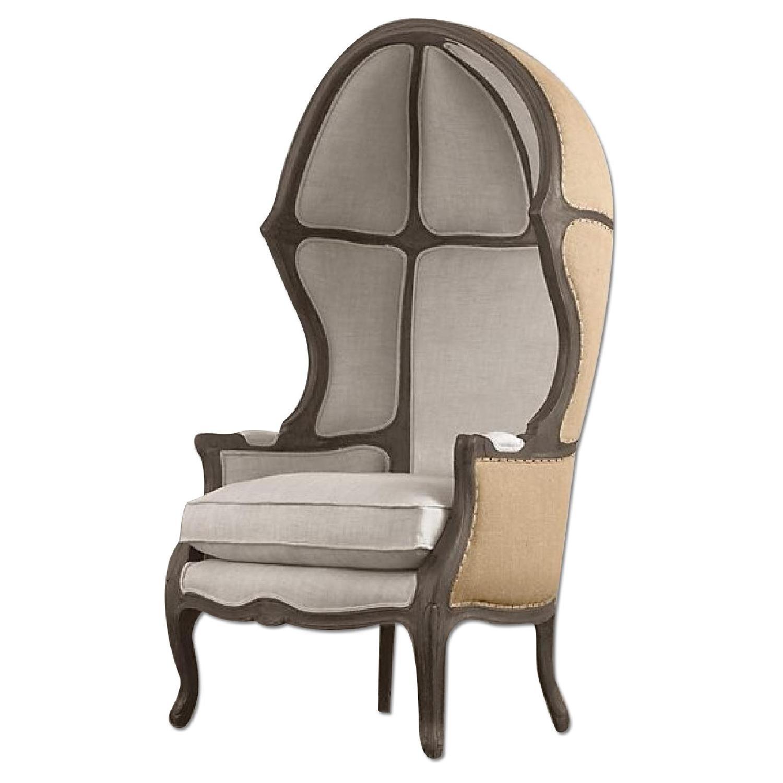 Restoration Hardware Versailles Burlap Backed Chair w AptDeco