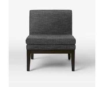 West Elm Upholstered Slipper Chair