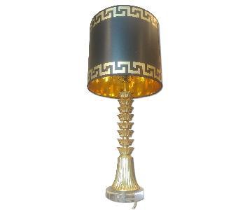 Greek Key Giclee Pattern Drum Lampshade
