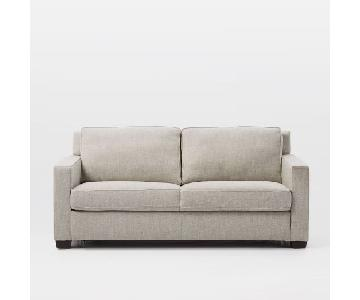 West Elm Henry Twill Gravel Full Sleeper Sofa