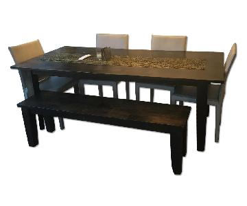 Crate & Barrel Basque Dining Table w/ 1 Bench