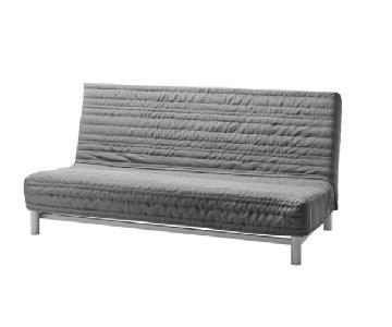 Ikea Beddinge Lovas Sleeper Sofa in Knisa Light Gray
