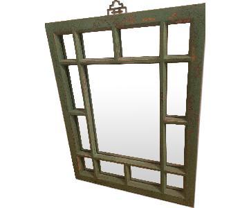 Vintage Sage Green Mirror
