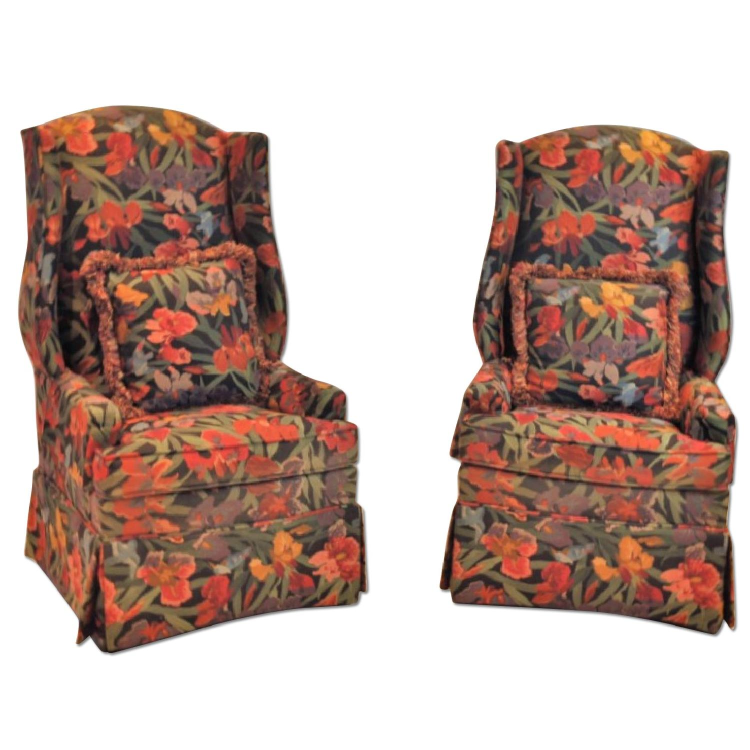 Custom Upholstered Wing Chairs