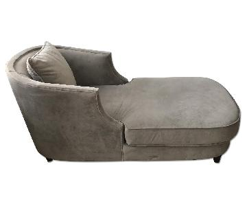 Vintage Grey Chaise Lounge
