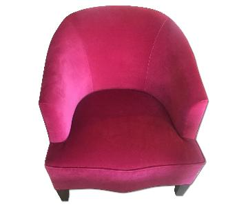 ABC Carpet and Home Pink Velvet Chair