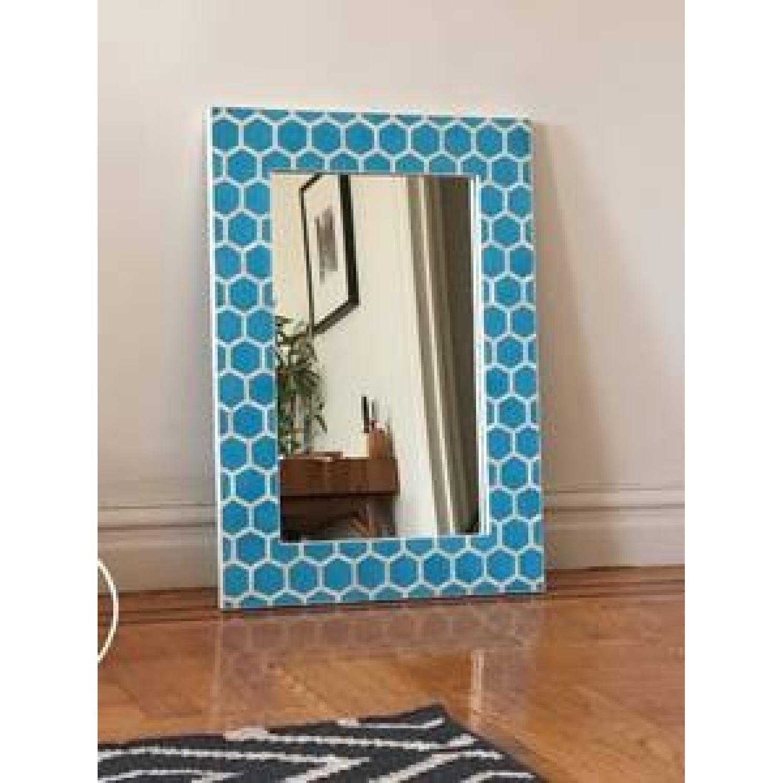 Turquoise Wall Mirror west elm bone inlaid turquoise wall mirror - aptdeco