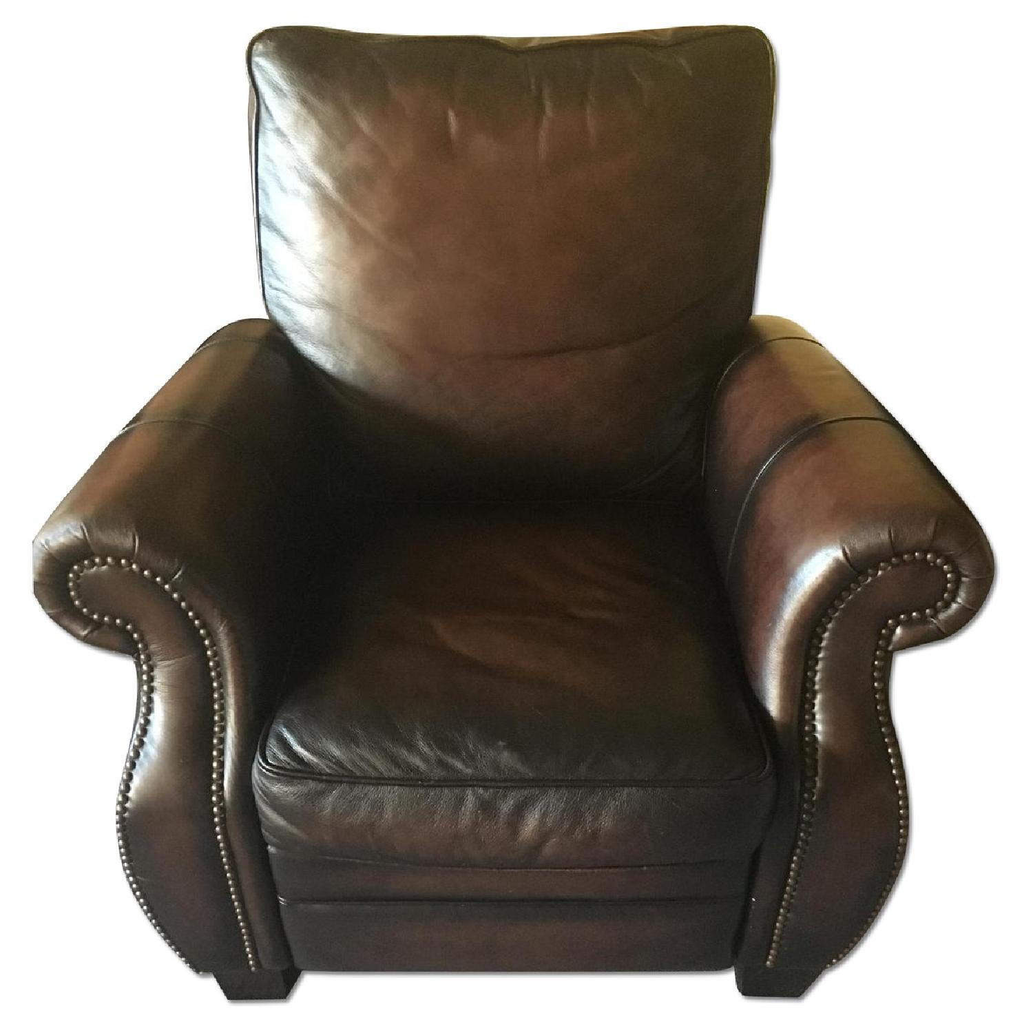 Macy s Brown Leather Recliner Chair AptDeco