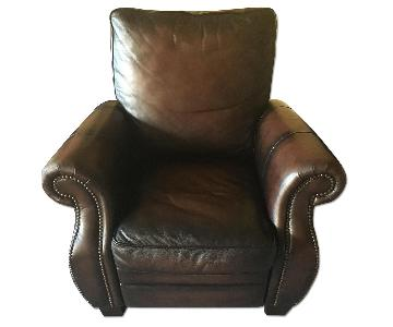 Macy's Brown Leather Recliner Chair