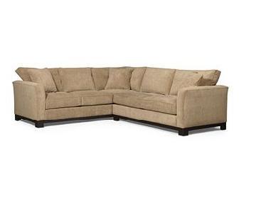 Macy's Kenton Fabric Sectional Sofa in Grain