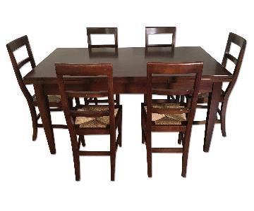 Bardiani Custom Made 9 Piece Italian Dining Set in Walnut