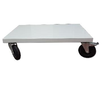 BoConcept White Coffee Table on Wheels