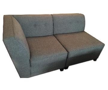 Macy's Harper Fabric Armless Sofa + Side Chair