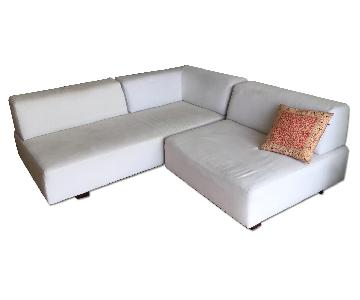 West Elm Tillary Modular Sectional Sofa in Off White