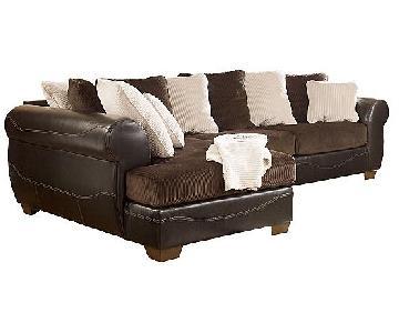 Ashley's Sectional Sofa w/ Chaise + Swivel Chair