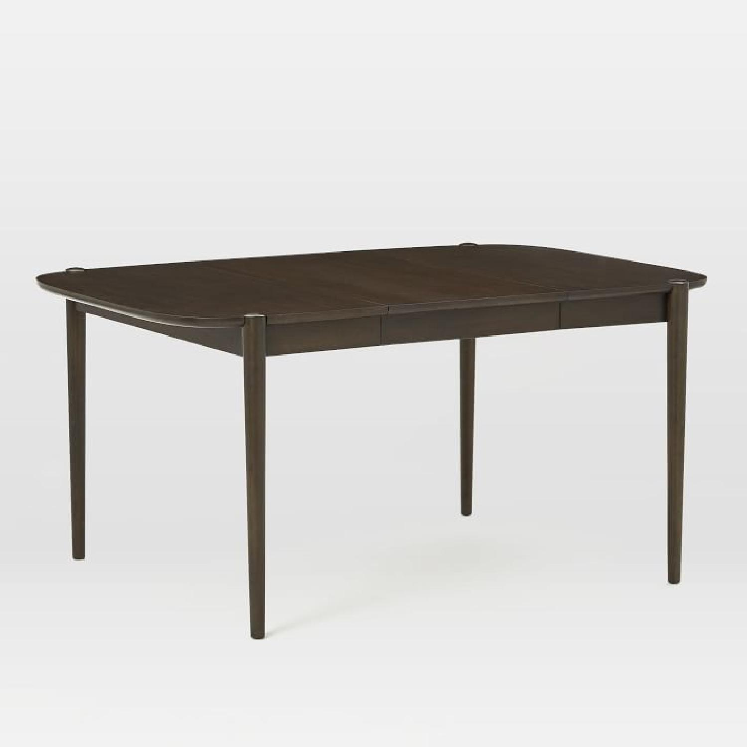 West Elm Ellipse Veneer Dining Table in Dark Mineral