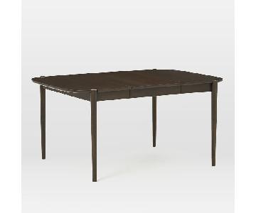West Elm Ellipse Veneer Dining Table in Dark Mineral