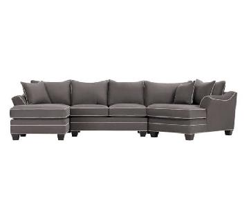 Raymour & Flanigan Foresthill 3 Piece Sectional Sofa