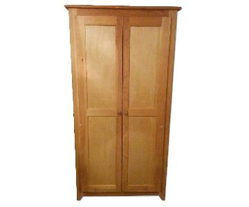Boston Wood Berkshire Unfinished Pine Wood Armoire