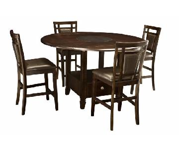 Raymour & Flanigan Northfield 5 Piece Counter-Height Dining