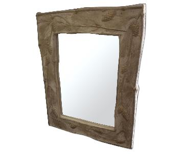 Handmade Mirror w/ Pinecone Detail