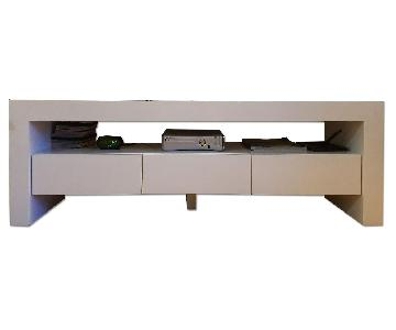 Custom Made 3 Drawer Media Console in White Glossy Finish