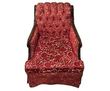 Vintage Brocade Armchair