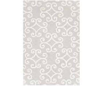 Dash & Albert Scroll Platinum Hooked Rug