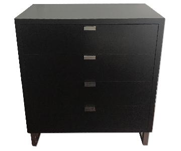 Portico Espresso Wood & Stainless Steel Four-Drawer Dresser