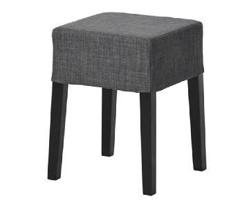 Ikea Nils Stools in Skiftebo Dark Grey