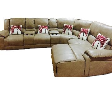 Macy's Bonded Leather Sectional Sofa