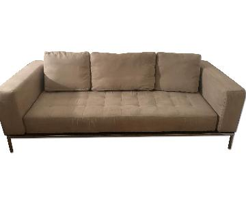 Kinetic Large Suede Tufted Sofa