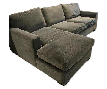Crate & Barrel Axis II Left Arm Chaise Sectional Sofa