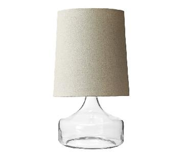 West Elm Perch Glass Lamp in Clear White