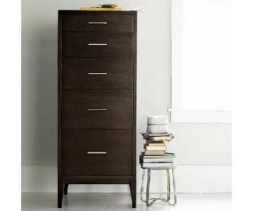 West Elm Narrow-Leg 5-Drawer Dresser - Chocolate