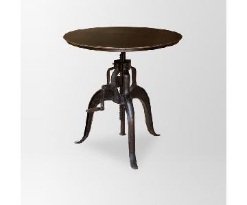 West Elm Adjustable Iron Table