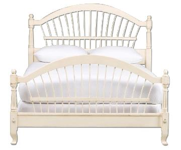 Ethan Allen Wheatback Solid Wood Bed Frame