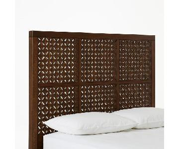 West Elm Cafe Carved Full Size Headboard