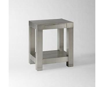 West Elm Parsons End Table - Metal Wrapped