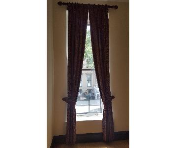 Curtain Drapes w/ Hardware