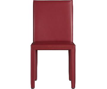 Crate & Barrel Folio Leather Chair
