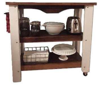 Rustic Kitchen Island Bar Cart