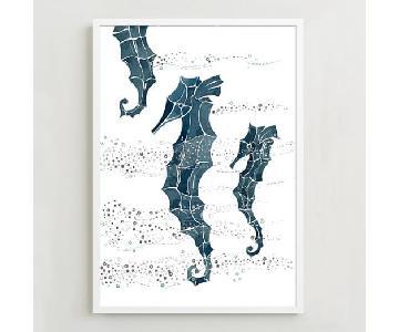 West Elm Framed Print - Seahorse